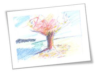 levensboom tekening