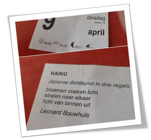 Gerarduskalender Haiku 09-04-2019