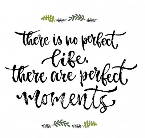 there is no perfect life there are perfect moments